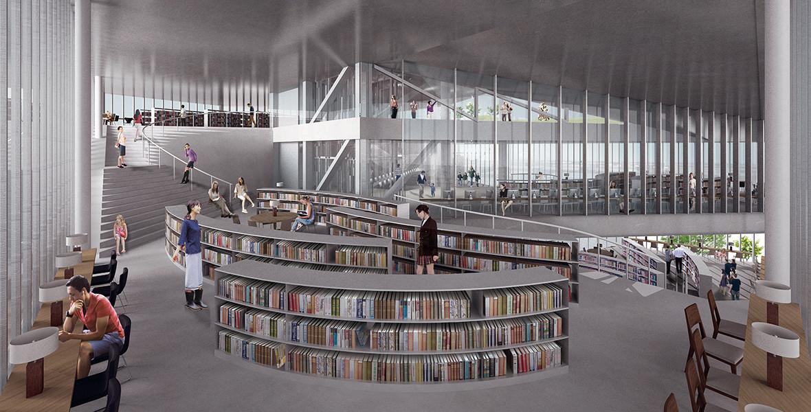 Daegu Gosan Public Library 国際設計コンペ応募案
